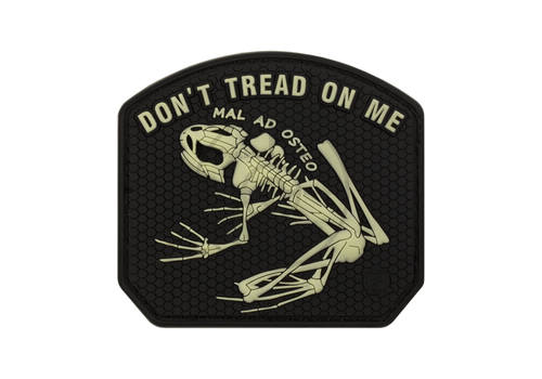 Don't Tread on me Frog Rubber Patch